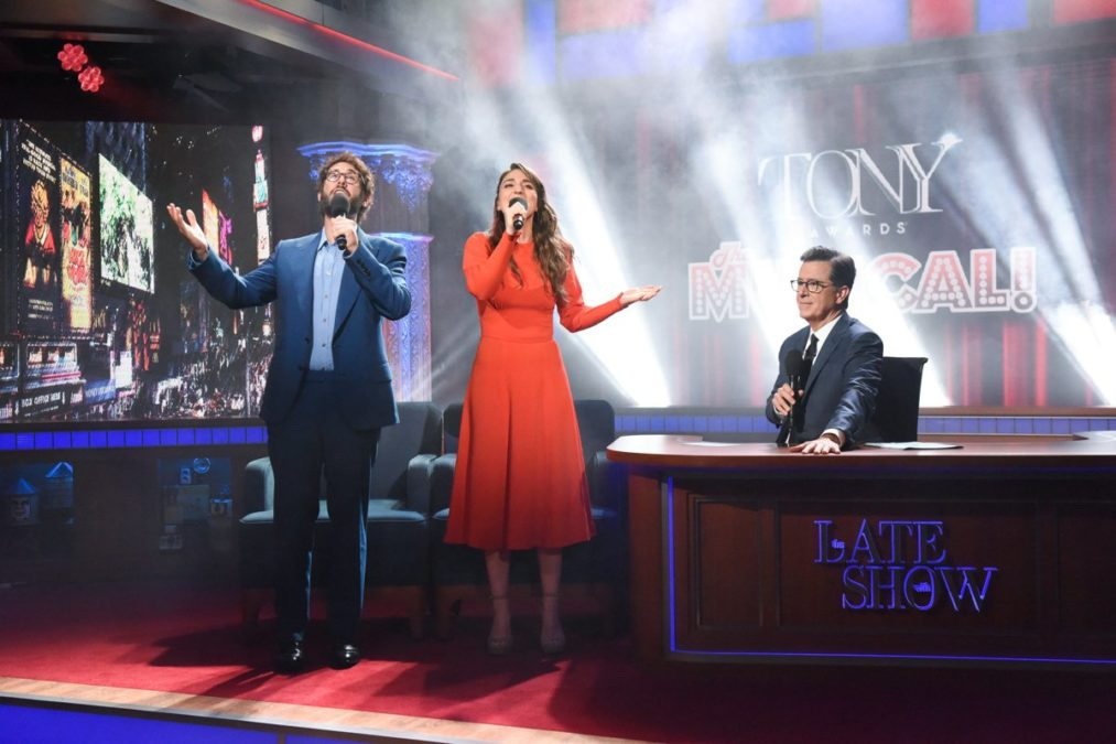 The Late Show with Stephen Colbert - Josh Groban - Sara Bareilles - Stephen Colbert - 06/2018 - Scott Kowalchyk/CBS