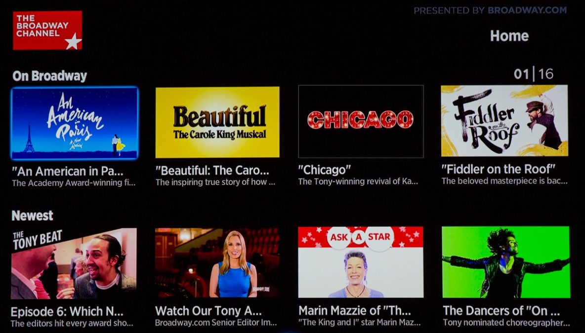 Broadway Channel - Roku App - 6/16