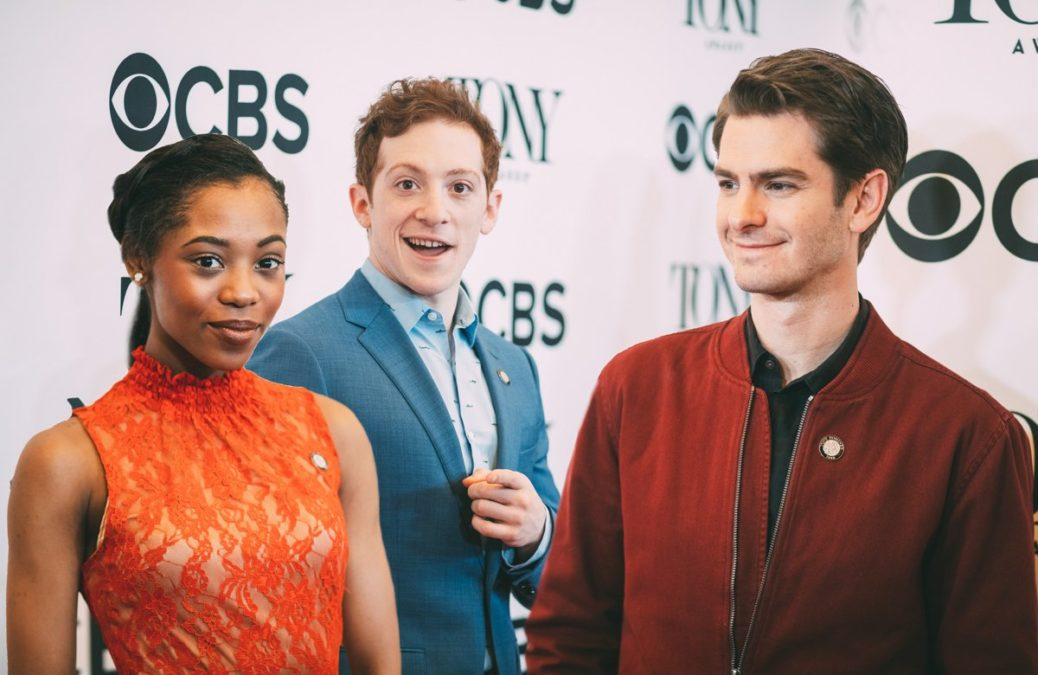 Meet the Nominees - Ethan Slater - Hailey kilgore and Andrew Garfield - Tony Awards - Press Junket - 5/18 - Emilio Madrid-Kuser