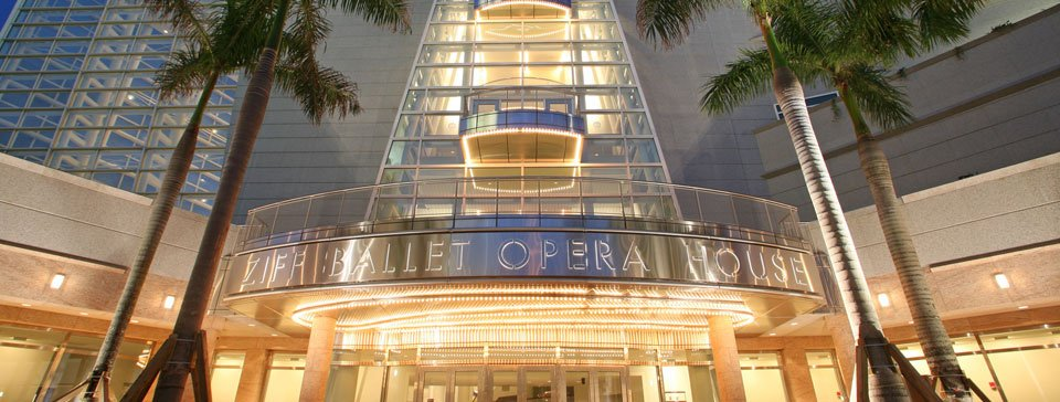 Front view of Adrienne Arsht Center